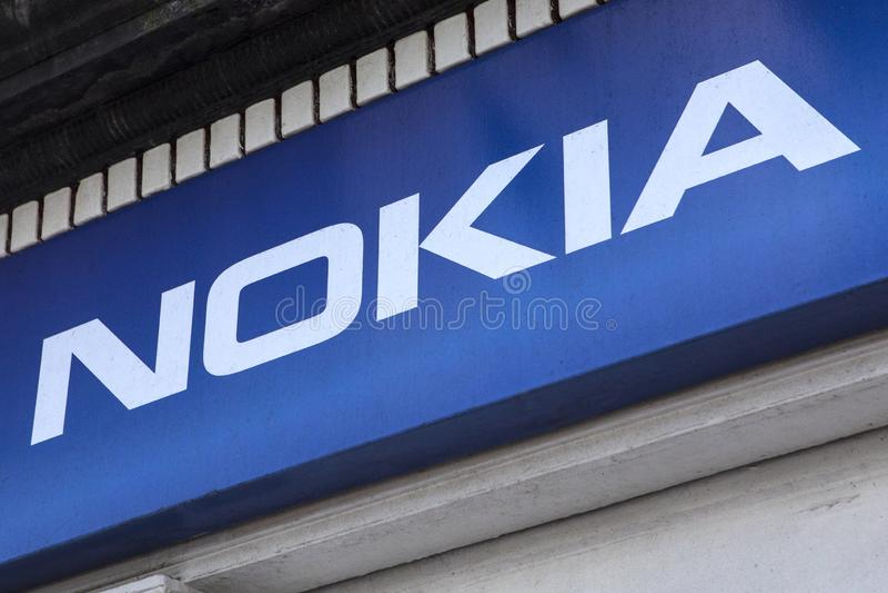 Logotipo de Nokia imagens de stock