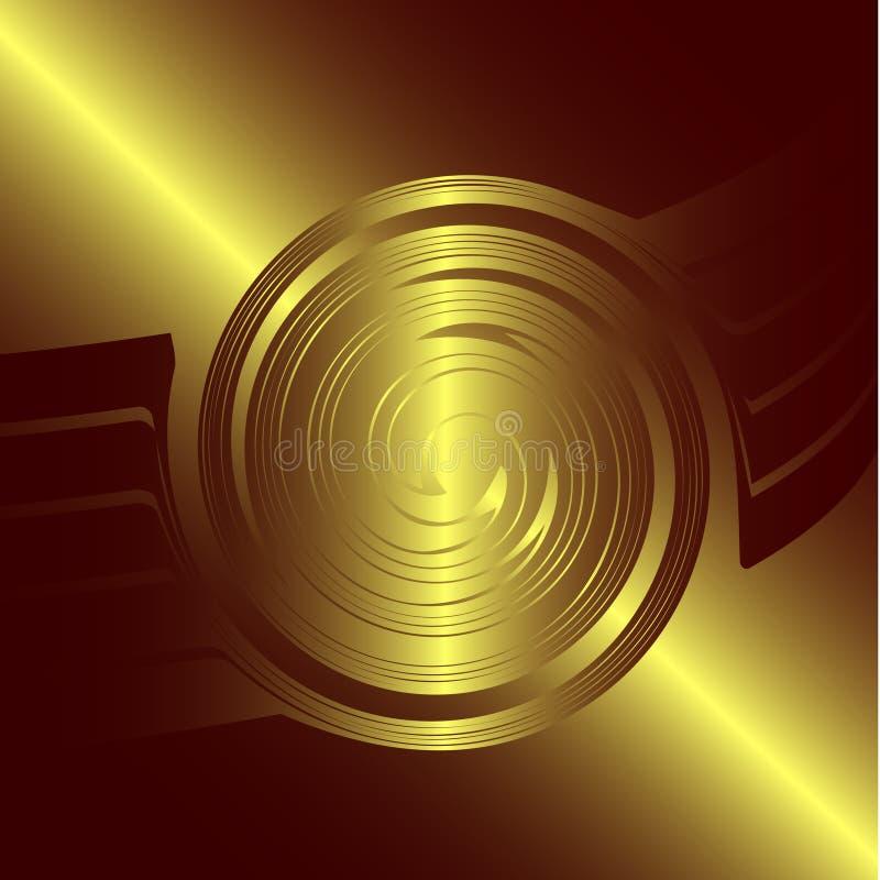 Logotipo de oro abstracto imágenes de archivo libres de regalías