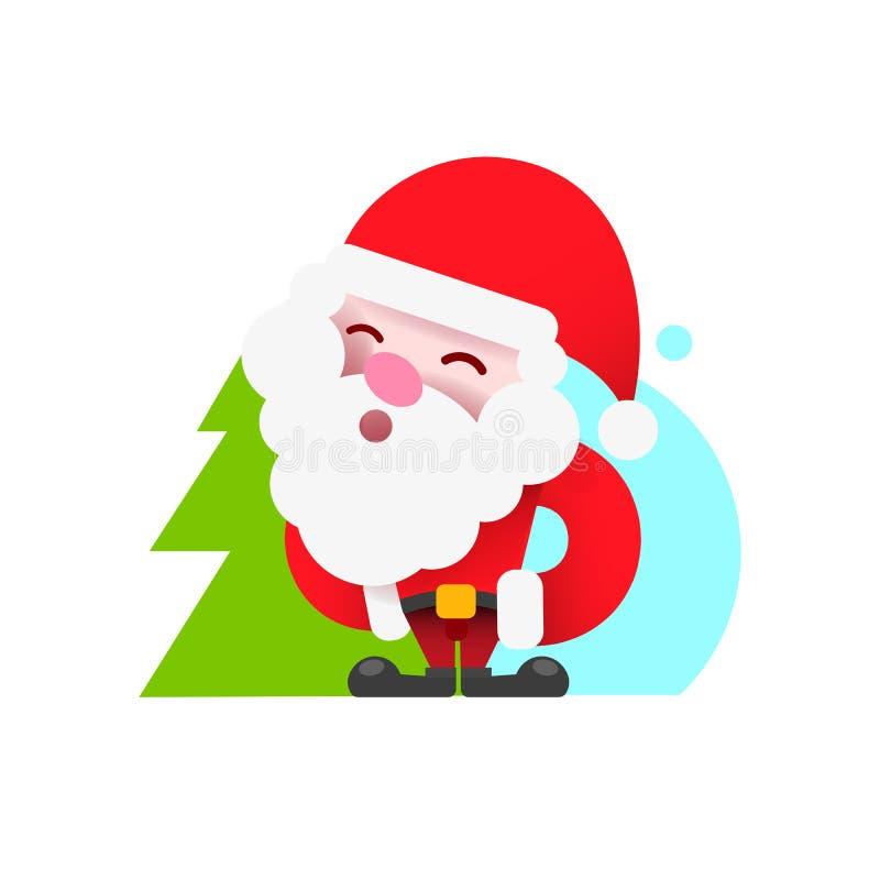 Logotipo de Pap? Noel del vintage para su dise?o y necesidades Ilustraci?n del vector libre illustration