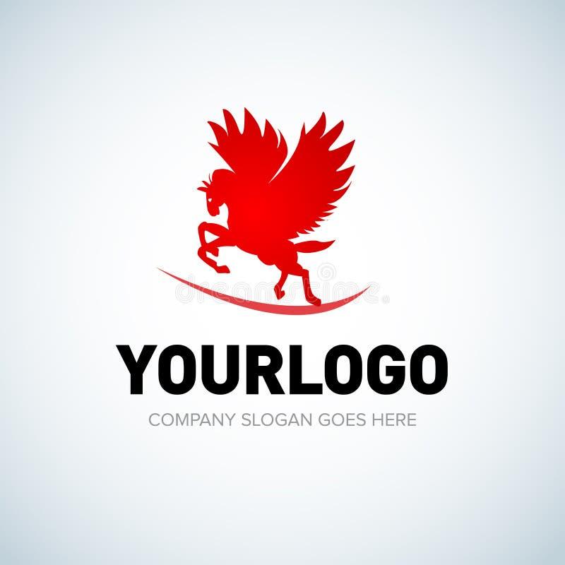 Logotipo de Pegas en color rojo Ilustración del vector ilustración del vector