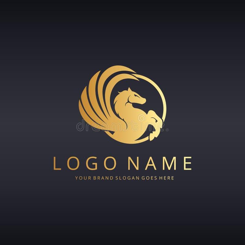 Logotipo de Pegasus ilustração do vetor