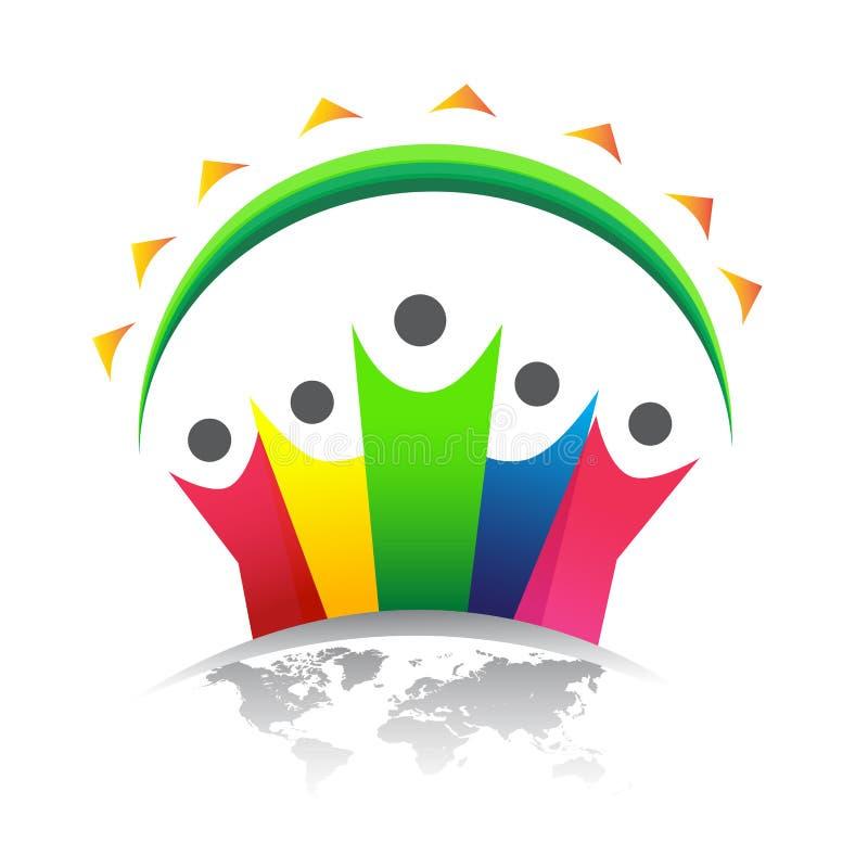 Logotipo de Peple con el mundo libre illustration