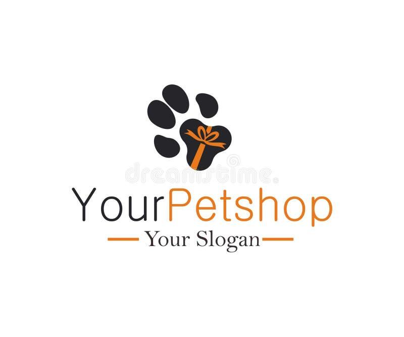 Logotipo de Petshop con el AI atado imagen de archivo