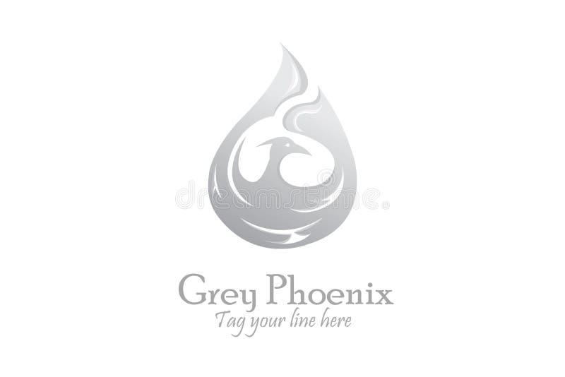 Logotipo de plata de Phoenix libre illustration