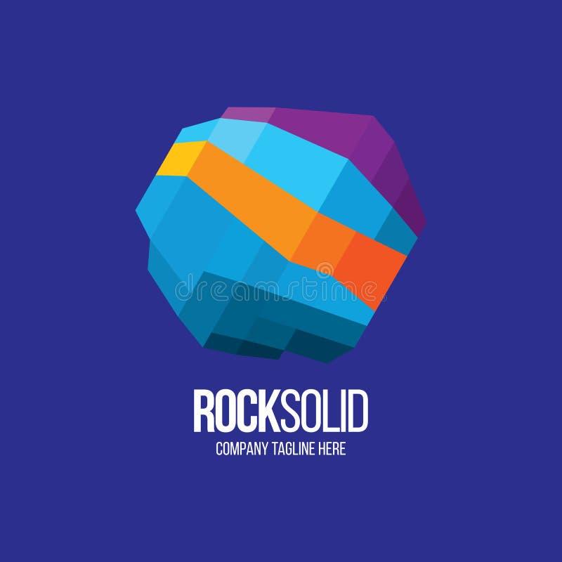 Logotipo de Pocksolid imagens de stock