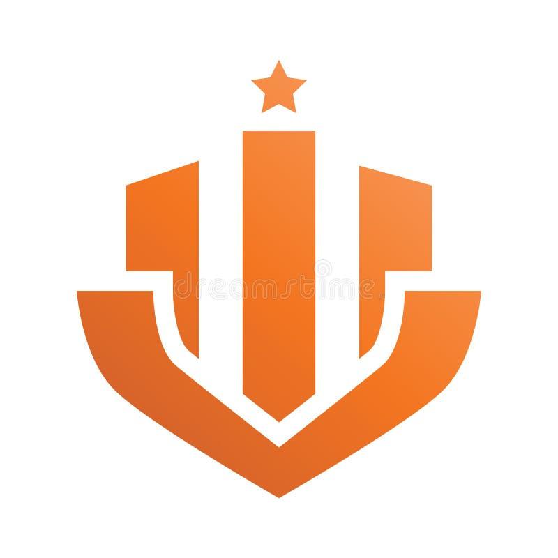 Logotipo de Real Estate da estrela do crachá ilustração stock