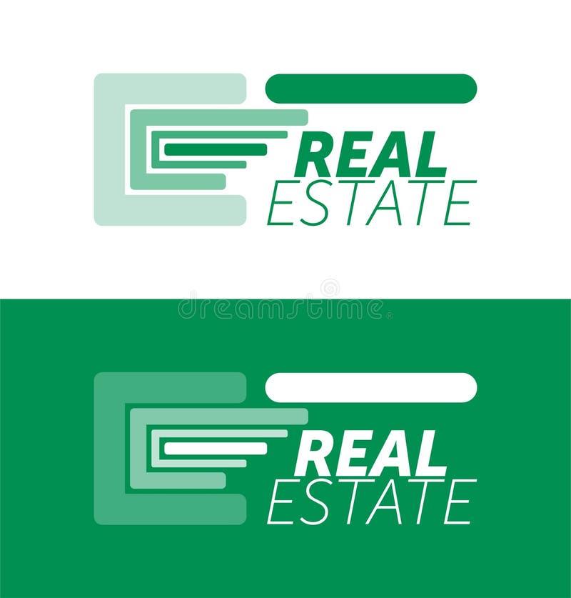 Logotipo de Real Estate y plantilla del icono Logotipo colorido Icono del dise?o stock de ilustración