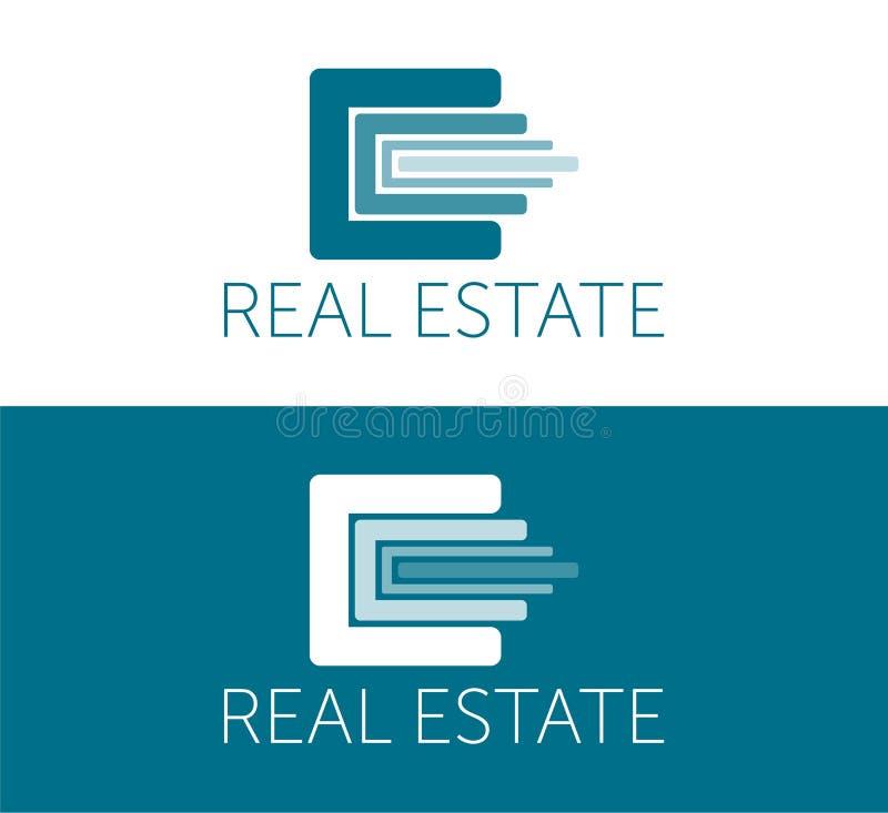 Logotipo de Real Estate y plantilla del icono Logotipo colorido Icono del dise?o libre illustration