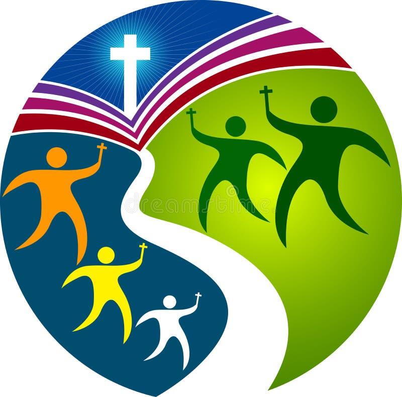 Logotipo de rogación de la educación ilustración del vector