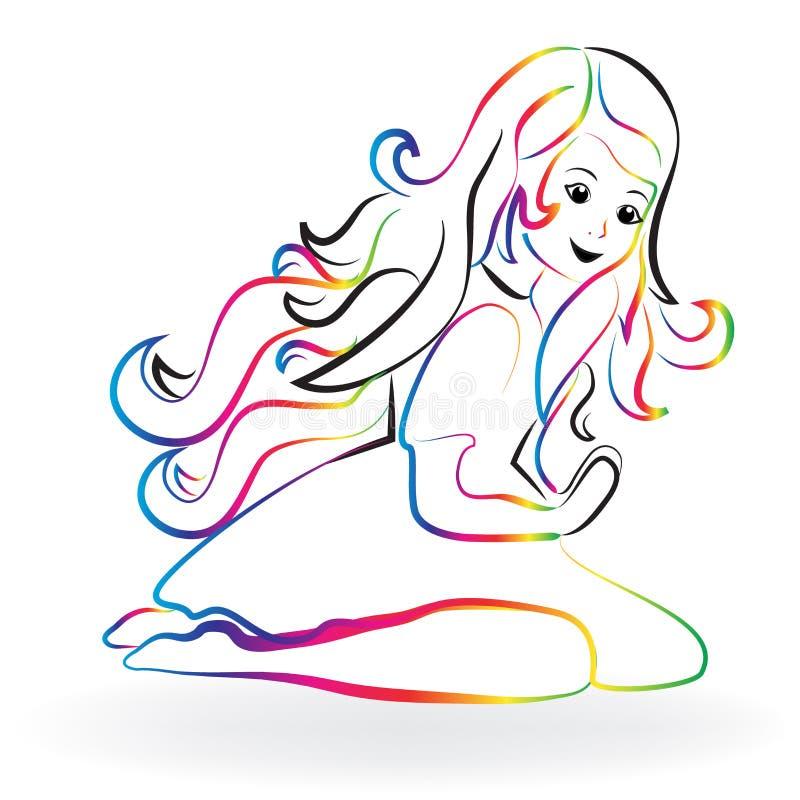 Logotipo de rogación de la niña libre illustration