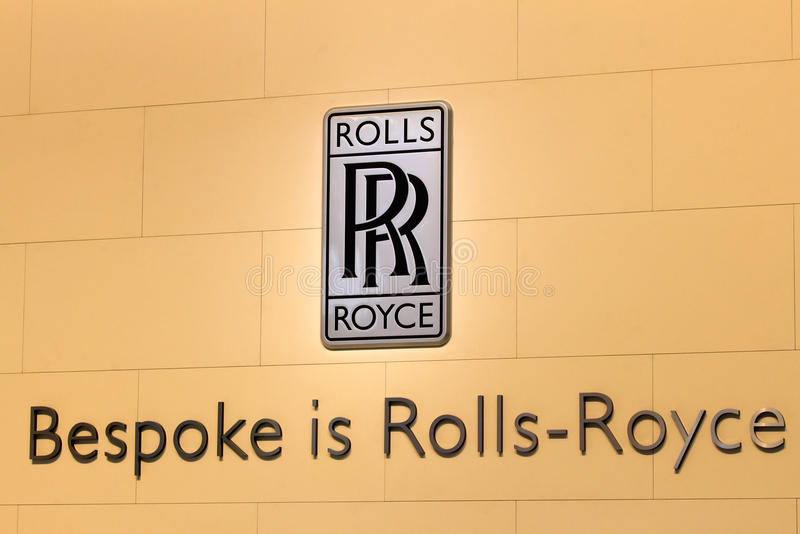 Logotipo de Rolls Royce fotos de stock