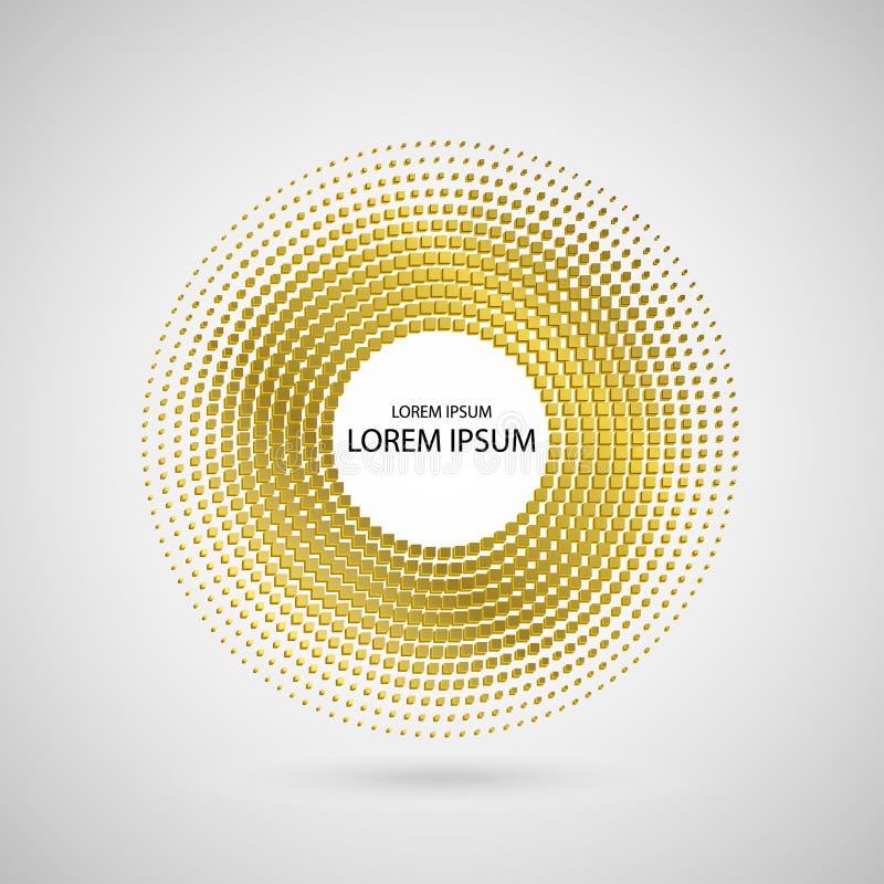 Logotipo de semitono abstracto del capítulo del círculo del oro, ejemplo del vector libre illustration