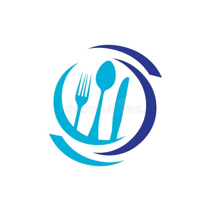 Logotipo de Spoon e Fork Ilustração vetorial para café ou restaurante um símbolo de ícone de comida gráfica para cozinhar para em ilustração do vetor