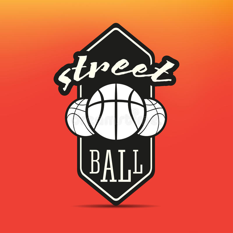 Logotipo de Streetball ilustração stock