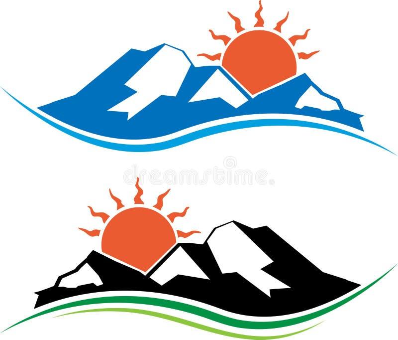 Logotipo de Sun ilustração stock