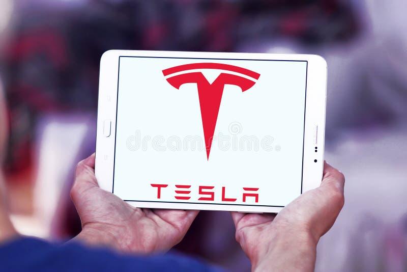 Logotipo de Tesla imágenes de archivo libres de regalías