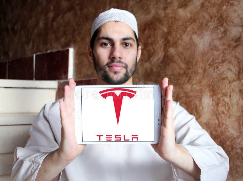 Logotipo de Tesla fotografía de archivo