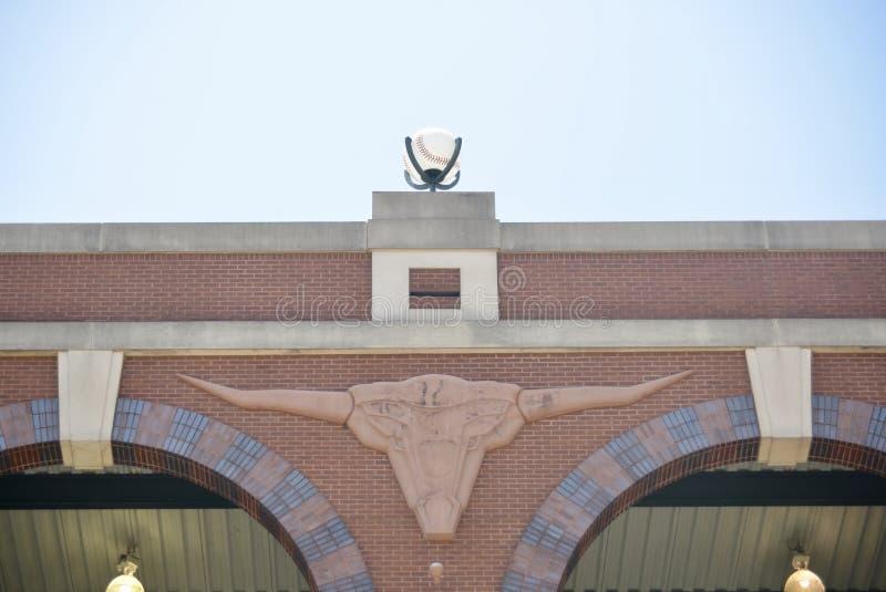 Logotipo de Texas Rangers Baseball Club Longhorn imagen de archivo