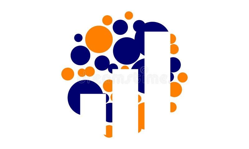 Logotipo de treinamento da solução do negócio do sucesso ilustração stock