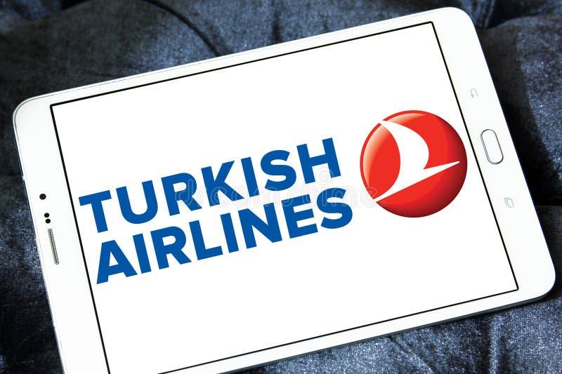 Logotipo de Turkish Airlines imágenes de archivo libres de regalías