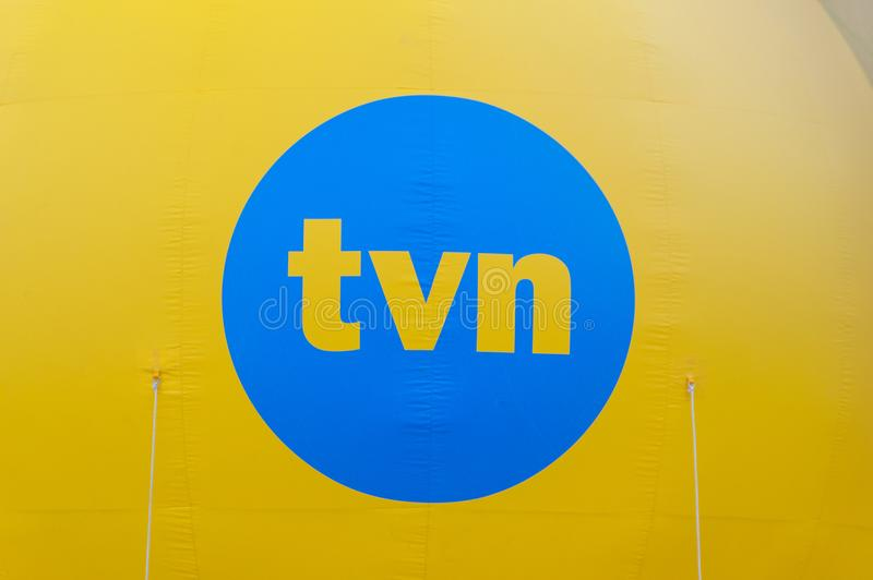 Logotipo de TVN TVN é canal de televisão polonês imagens de stock royalty free