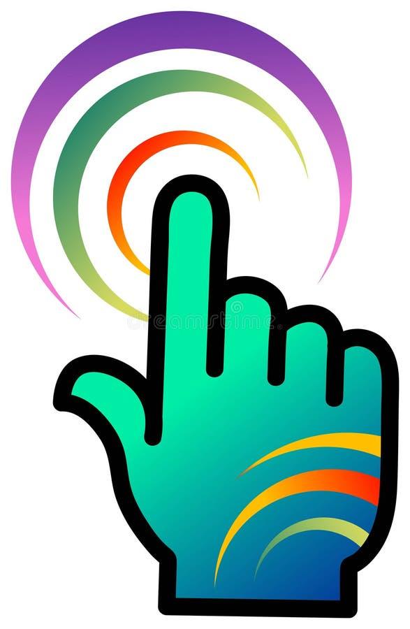 Logotipo de uma comunicação ilustração stock