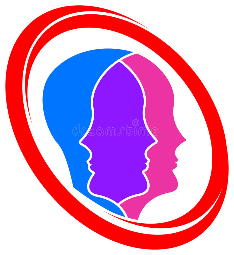 Logotipo de uma comunicação ilustração royalty free