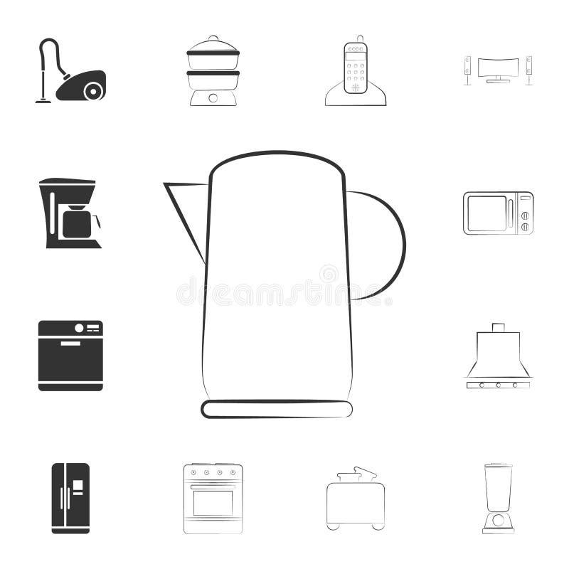 logotipo de un icono eléctrico de la caldera Sistema detallado de iconos de los artículos del hogar Diseño gráfico de la calidad  libre illustration