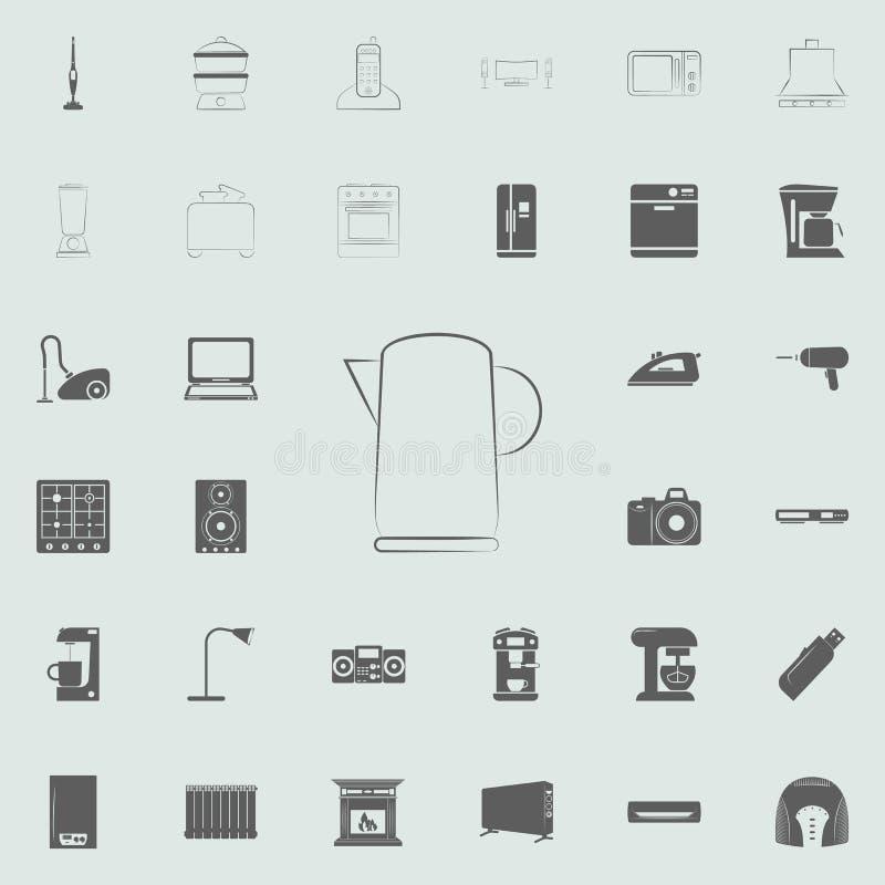 logotipo de un icono eléctrico de la caldera Sistema universal de los electro iconos para el web y el móvil ilustración del vector