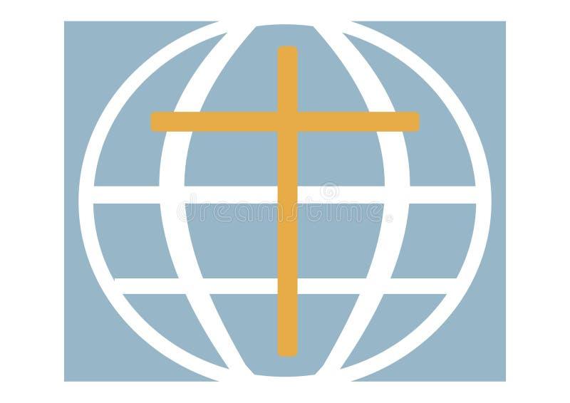 Logotipo de una iglesia cristiana, el planeta fotos de archivo