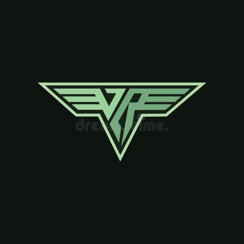 Logotipo de Vr para cualquier negocio ilustración del vector