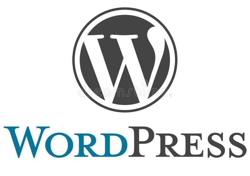 Logotipo de WordPress ilustração stock