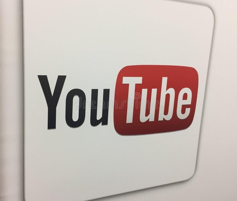 Logotipo de YouTube foto de archivo