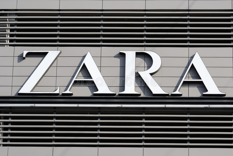 Logotipo de Zara foto de stock royalty free
