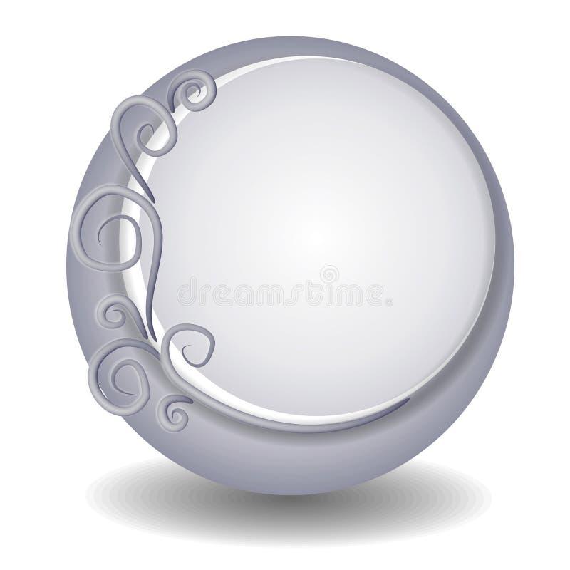 Logotipo decorativo do Web site ilustração royalty free