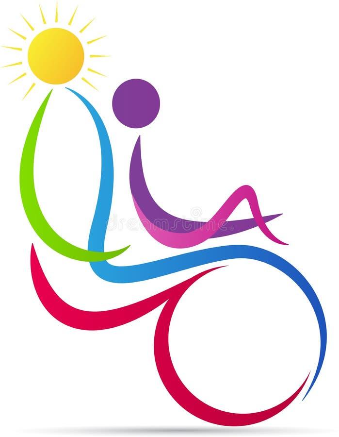 Logotipo deficiente do cuidado ilustração stock