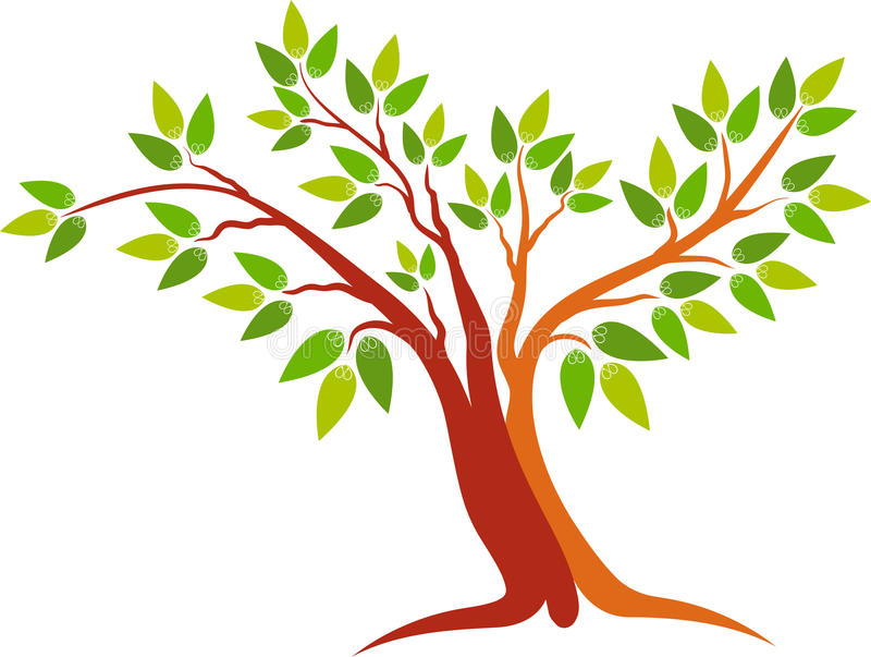 Logotipo del árbol libre illustration
