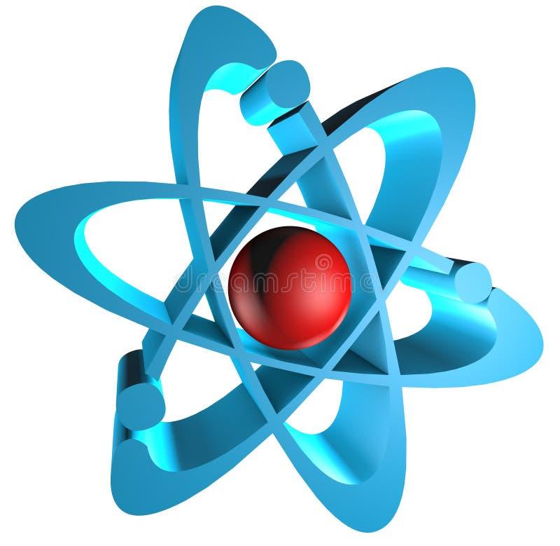 logotipo del átomo 3D stock de ilustración