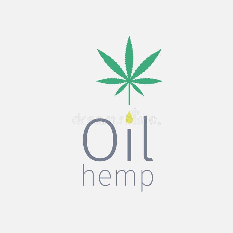 Logotipo del aceite de cáñamo stock de ilustración