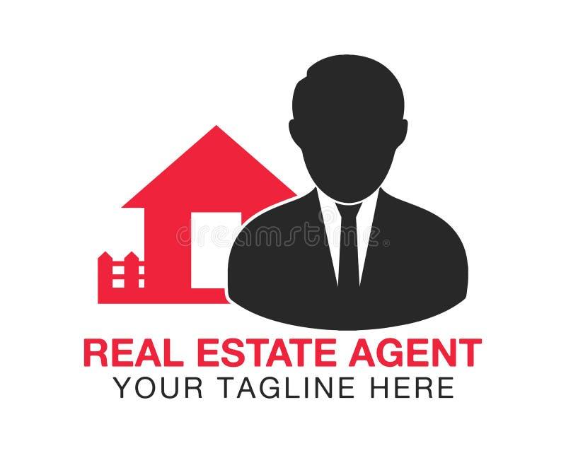 Logotipo del agente de los bienes inmuebles libre illustration
