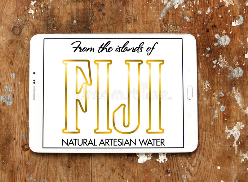 Logotipo del agua de Fiji foto de archivo
