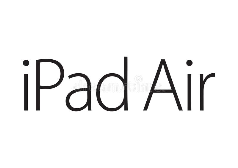 Logotipo del aire de Apple IPad ilustración del vector