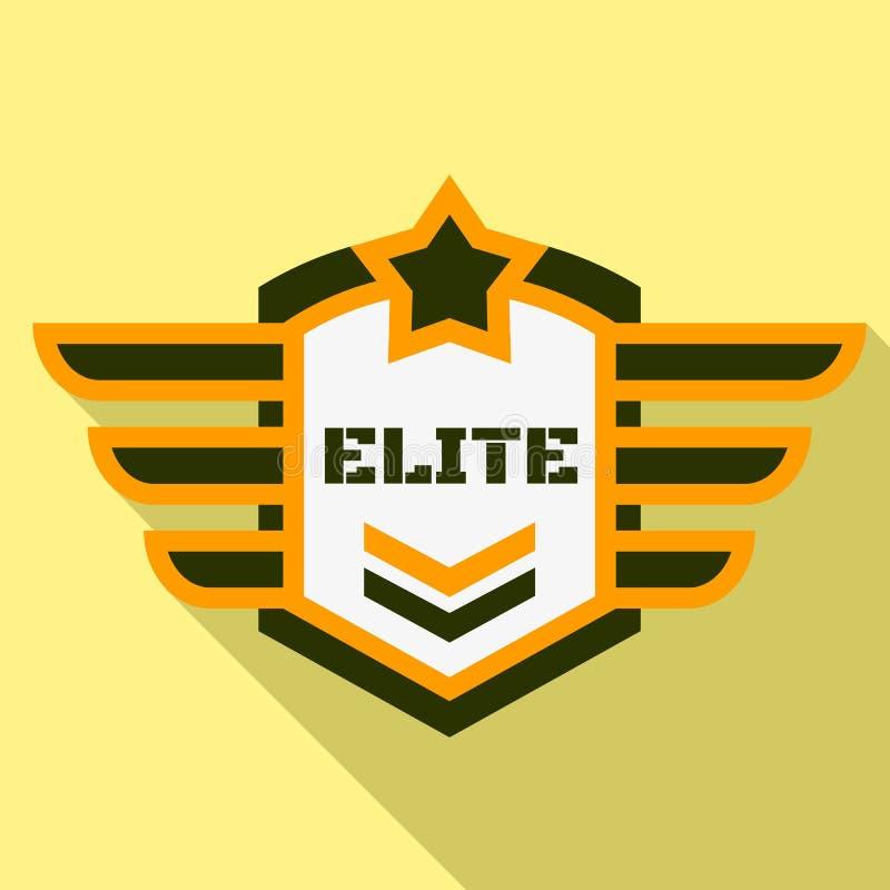 Logotipo del aire de la élite, estilo plano ilustración del vector