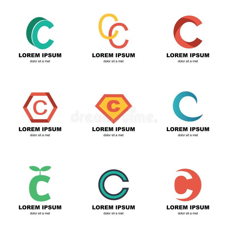 Logotipo del alfabeto c libre illustration