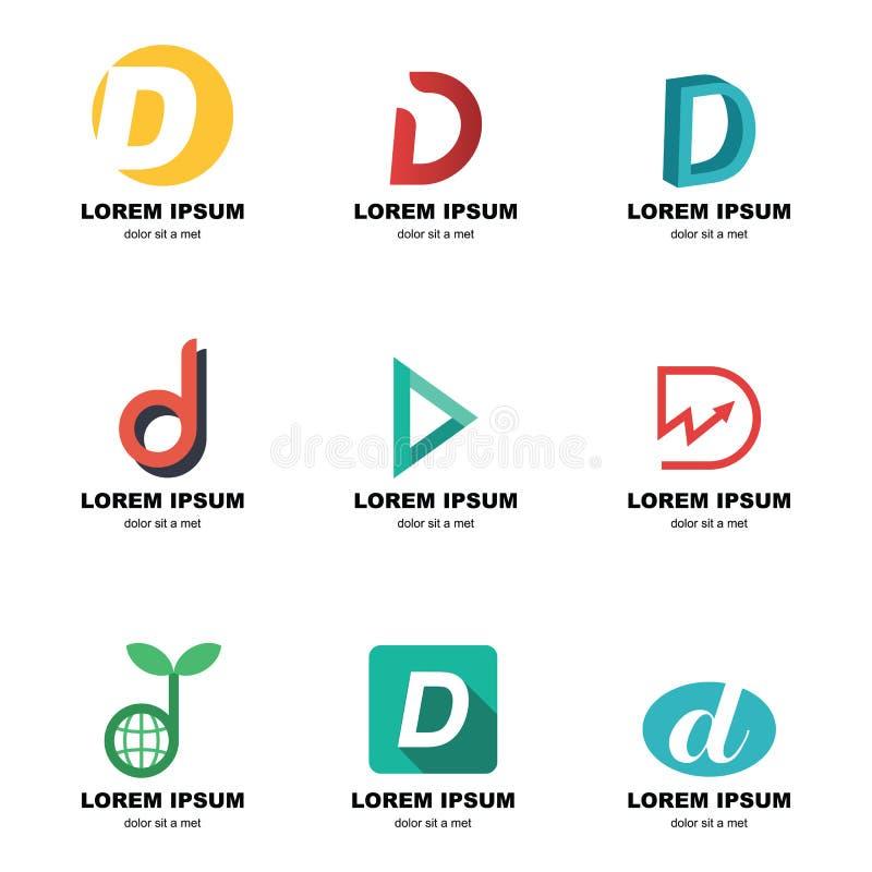 Logotipo del alfabeto d ilustración del vector