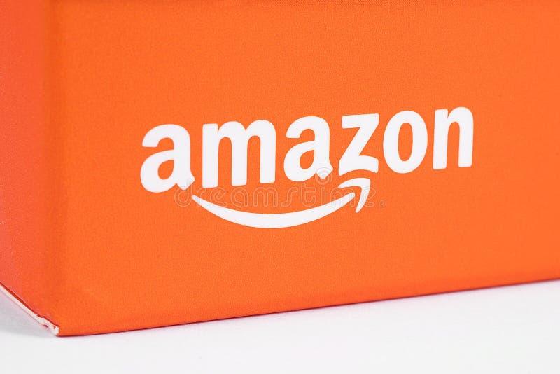 Logotipo del Amazonas en el empaquetado foto de archivo