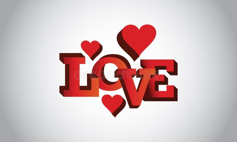Logotipo del amor y diseño del vector imagenes de archivo