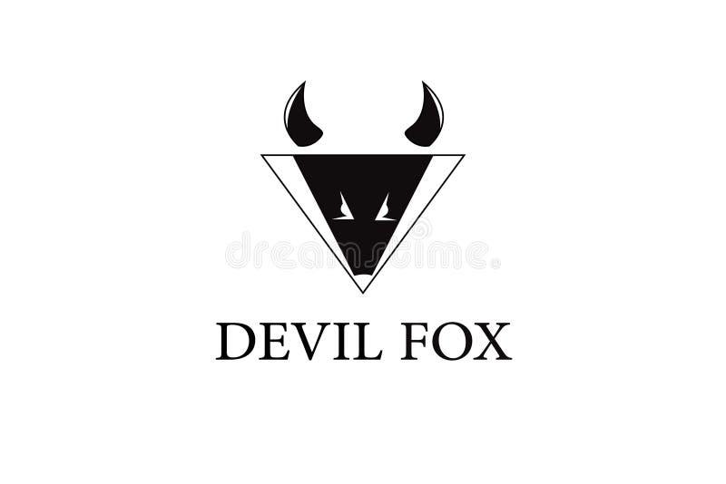 Logotipo del animal del zorro del diablo ilustración del vector