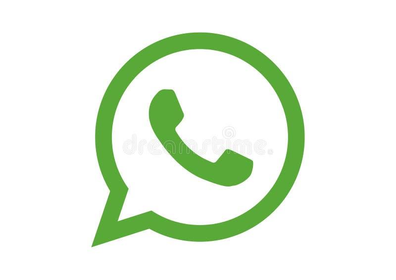 Logotipo del appplication de WhatsApp fotos de archivo libres de regalías