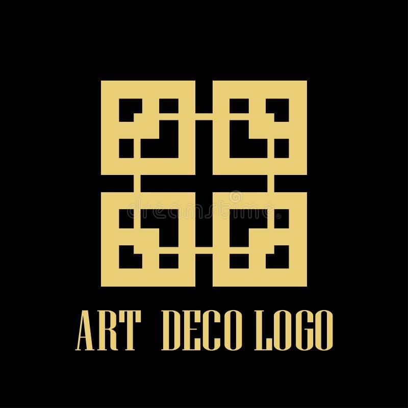 Logotipo del art déco ilustración del vector